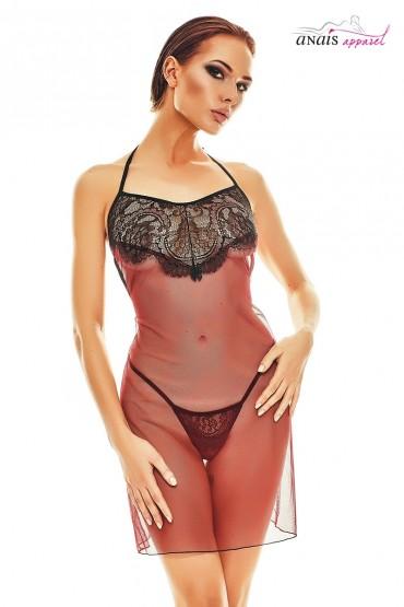 Robe lingerie rouge et...