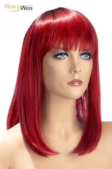 Perruque Elvira rouge -...