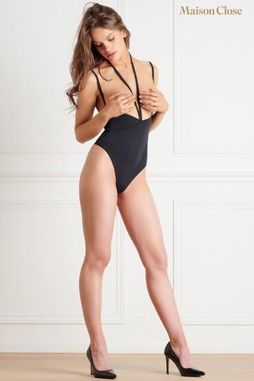 Body string seins nus noir...