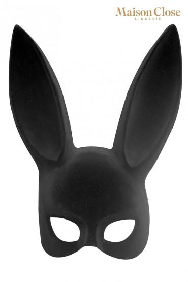 Masque lapin avec pompon -...
