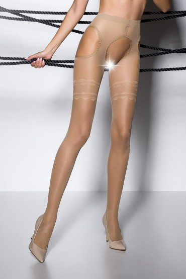 Collants ouverts TI002 - beige